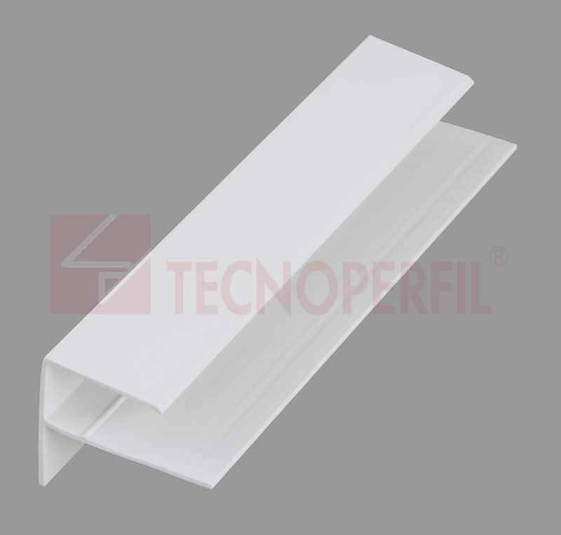 """ARREMATE EM PVC """"F"""" 29X24MM - TEC 125"""